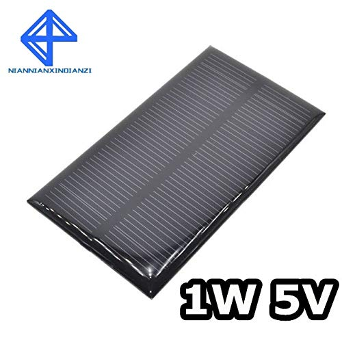Smart Electronics Solar Panel 1W 5V Electronic DIY Small Solar Panel for Cellular Phone Charger Home Light Toy etc Solar Cell by Wolfrule (Image #4)