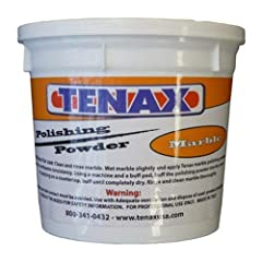 Tenax marble polishing powder is formulated specifically to create a high gloss finish on marble, travertine, limestone or other calcites. This marble polishing powder may be used on countertops, floors, and other marble pieces to rejuvenate ...