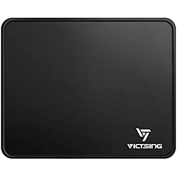 VicTsing Mouse Pad with Stitched Edges, Premium-Textured Mouse Mat Pad, Non-Slip Rubber Base Mousepad for Laptop, Computer & PC, 10.2×8.3×0.8 inches, Black