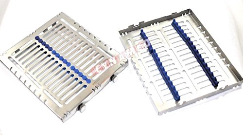 4 GERMAN DENTAL AUTOCLAVE STERILIZATION CASSETTE TRAY FOR 15 INSTRUMENTS 8.25X7.25X1.25'' PINK/BLUE ( CYNAMED ) by CYNAMED (Image #4)