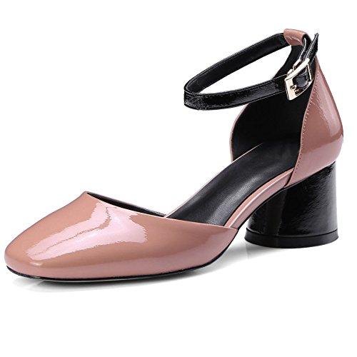Hebilla Zapatos Con Redonda De Gruesos Cabeza Sandalias Huecas Mujer thQrdsC