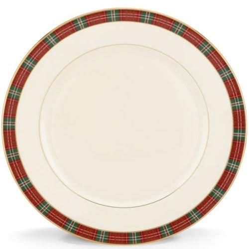 Lenox Winter Greetings Plaid Dinner Plate