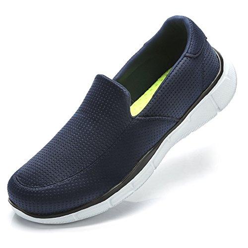 - Camel Crown Walking Shoes Men's Go Walk Sneaker Slip-on Sneakers Lightweight Comfortable Casual Loafers (Navy Blue, 9 D(M) US)