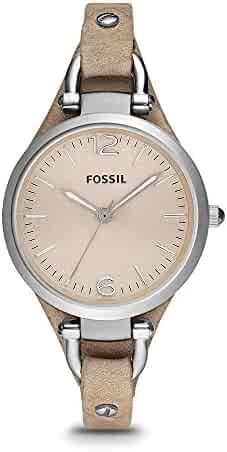 Fossil Women's ES2830 Georgia Stainless Steel Watch with Leather Band