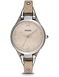 Women's ES2830 Georgia Stainless Steel Watch with Leather Band