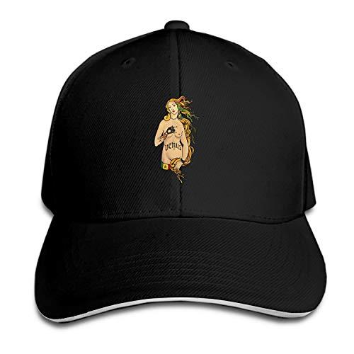 Venus'S Raver Edition Men's Structured Twill Cap Adjustable Peaked Sandwich Hat