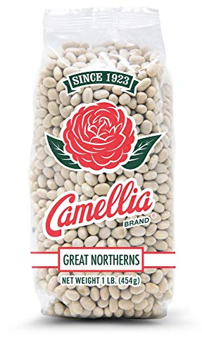 Smoked In Ham Bone - Camellia Brand Great Northern Beans Dry Beans 1 Pound