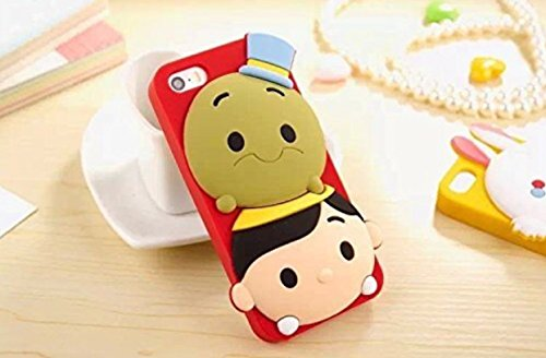 iPhone 6 Plus Case, Maxbomi - 3D Cute Cartoon Adventures of Pinocchio and Jiminy Cricket Soft Silicone Rubber Protective Skin Protector Back Case Cover for iPhone 6 Plus (5.5 (Pinocchio Nose Growing)