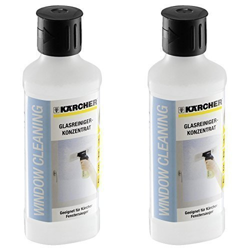 2 X Kärcher 500ml Glass Cleaning Concentrate For Window Vac