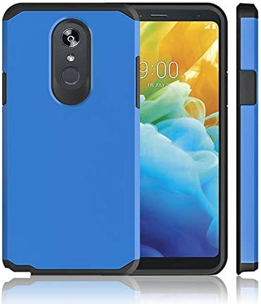 [해외]ATUS LG Stylo 5 Case with Full Cover Tempered Glass Screen Protector - Hybrid Dual Layer Protective TPU Case (BlueBlack) / ATUS LG Stylo 5 Case, with Full Cover Tempered Glass Screen Protector - Hybrid Dual Layer Protective TPU Cas...