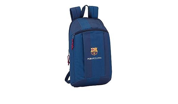 Safta Mini Mochila Day Pack Estampado Fc B. Blue Oficial Uso Diario 220x100x390mm: Amazon.es: Equipaje