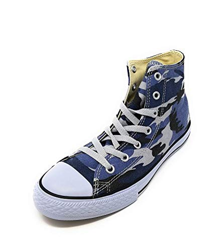 Converse CTAS Chuck Taylor All Star HI Kids Blue Camo (5 M US Big Kid)