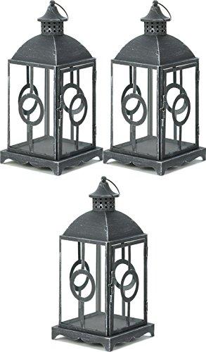 3 Circlet Pewter Grey Candle Lantern Centerpiece Wedding Table Home Garden Decor (Pewter Table Billiard)
