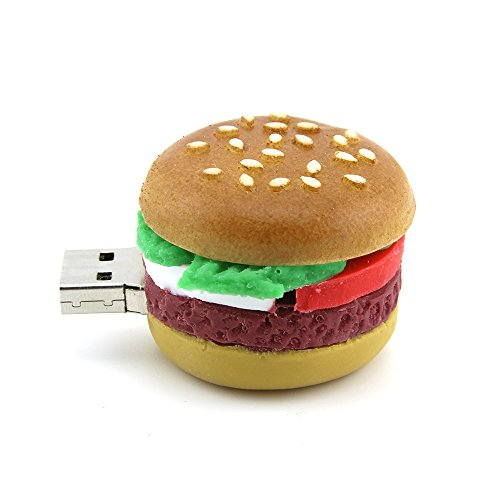 Usbkingdom 32GB USB 2.0 Flash Drive Cartoon Hamburger Food Shape Thumb Drive Memory Stick Pendrive Flashdrive ()