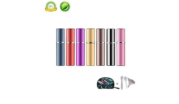 Atomizador de Perfume,Morbuy Mini Portátil Vacía Pulverizador Frascos Dosificador Recargable de Perfume de Afeitado con Bomba de Embudo y Pipeta para Viaje en Bolso 10ml (10ml, 7 piezas): Amazon.es: Belleza