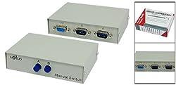 Gino 2 Way DB9 Male AB Data Manual Share Switch Box 2 Port