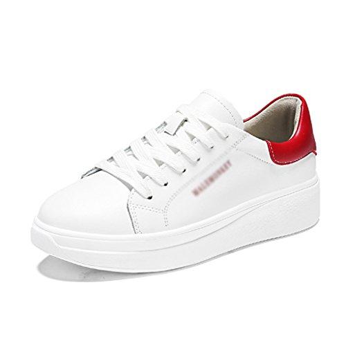 mujer Zapatos primavera Zapatos deportes HWF White de blancos de inferiores los de Color la para ocasionales Zapatos la mujeres gruesos placa green las Zapatos 39 Red White de femeninos Tamaño wOH7qOE