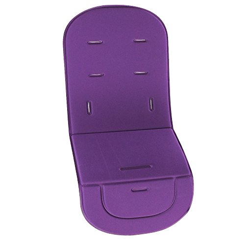 Saftybay Universal Baby Stroller Cushion Seat Liner Breathable Pram Pushchair Mat Pad Solid Color (Purple)