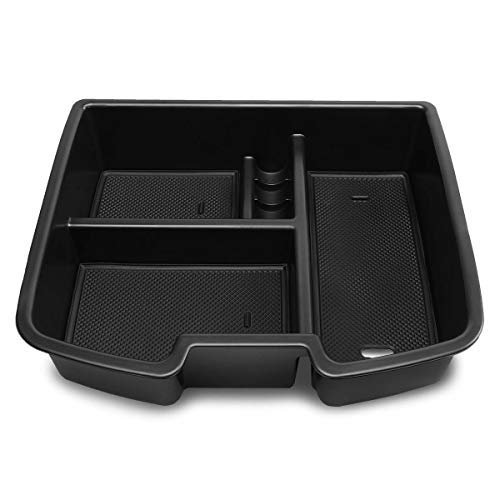 DNA MOTORING ZTL-Y-0018 Center Console Armrest Organizer Tray (for 07-14 Tahoe/Yukon), 1 Pack,Black