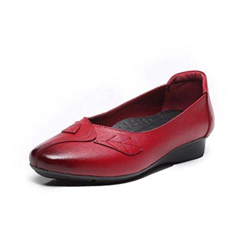 Giy Kvinners Uformelle Retro Loafers Komfort Mokkasiner Leiligheter  Firkantet Tå Slip-on Kjole Penny Dagdriver