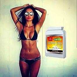 x60 Super Tan Pills Dark Tan Fast Tanning Indoor Tanning Sunless Tanner Skin Bronzer Skin Care Natural Ingredients Tablets