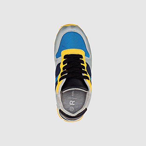 La Redoute R Kids Flache Sneakers fur Kinder, Canvas Blau/Gelb
