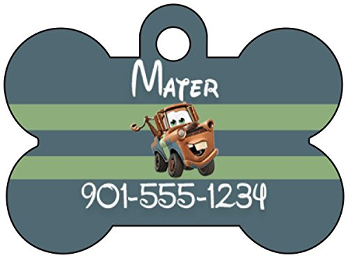 Disney Cars Tow Mater Dog Tag Pet Id Tag Personalized w/ ...