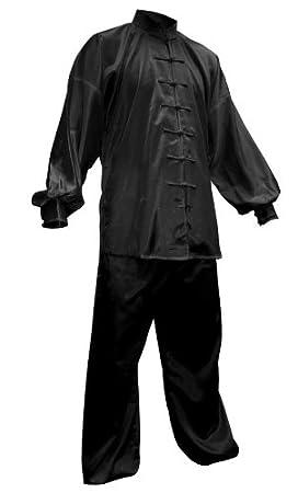 Y-DOUBLE Y - Traje de Tai Chi Chuan de satén, color negro ...