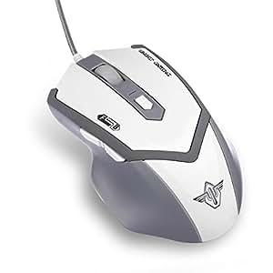kaimeng Mystic azul Respiración luz ajustable 800dpi/1600/2000dpi juego ratón/ratón con 6botones para Gamer, PC, Mac