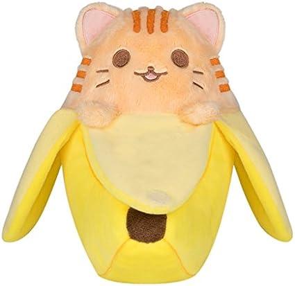 "3/"" Anime Bananya Banana Cat Plush Toy Soft Stuffed Animal Doll Keychain Gift"