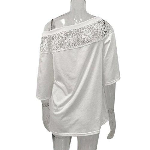 IMJONO Las señoras de las mujeres encadenan la blusa floja floja de las tapas de la manera de la manera