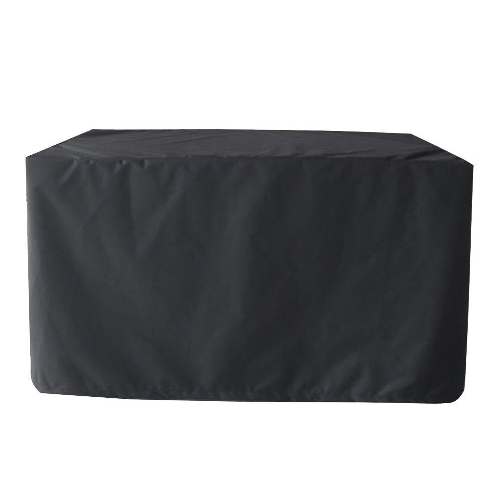 MISSMAO/_FASHION2019 Housse pour Table de Jardin-Housse de Protection B/âche Imperm/éable et Anti-poussi/ère Anti Vent Pluie UV pour Meubles Jardin Tissu Oxford 210D Noir 123x123x74cm