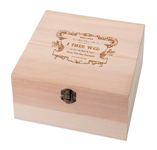 - Lillian Rose Wooden True Love Guest Book Alternative Card Box