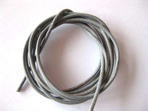 Lederband grau 1 m Ziegenleder