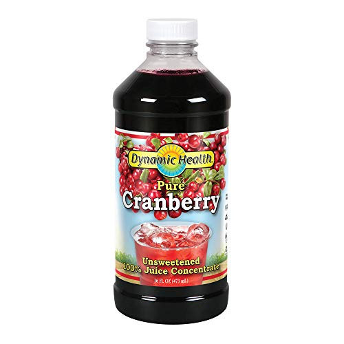 Dynamic Health, Unsweetened Concentrate Juice, Cranberry , 16-Ounce (Best Cranberry Juice Brand For Uti)