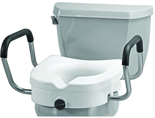 - NOVA Medical Products Raised Toilet Seat with Detachable Arms, White, 5.5 Pound