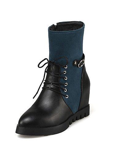 Eu35 Cuñas Cn43 negro Azul Uk8 Casual Botas Cuña Uk us10 Blue Mujer Eu42 Vestido Blue La 5 Semicuero Uk3 Tacón Xzz Moda De 5 Vellón Cn34 Zapatos Puntiagudos A us5 ZgqXpp