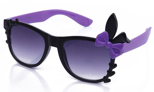 Kyra Women's High Fashion Bunny Ears Hearts Bow Two Tone Sunglasses 20% OFF 4 Pairs or - For $20 2 Sunglasses