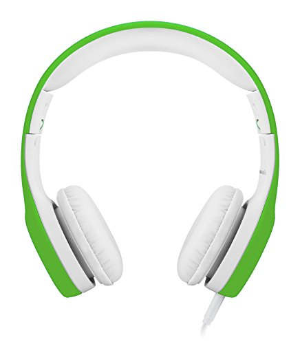 LilGadgets Connect+ Premium Volume Limited Wired Headphones with SharePort for Children / Kids (Green)