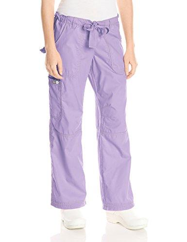 KOI Women's Lindsey Ultra Comfortable Cargo Style Scrub Pants (Petite Sizes), French Lilac, Small