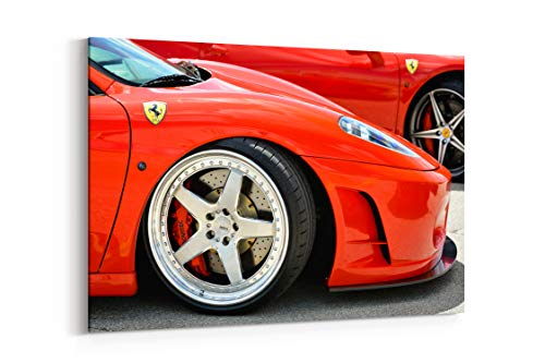 Ferrari F430 Wheel - Ferrari F430 Wheel Supercars Exotic Red - Canvas Wall Art Gallery Wrapped 26