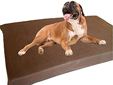 kosipet® grande Deluxe colchón de espuma de alta densidad impermeable cama para perro camas, color marrón forro polar: Amazon.es: Productos para mascotas