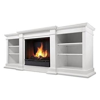 Fresno Gel Entertainment Fireplace in White