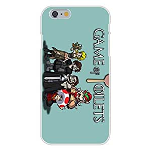 "Apple iPhone 6+ (Plus) Custom Case White Plastic Snap On - ""Game of Toilets"