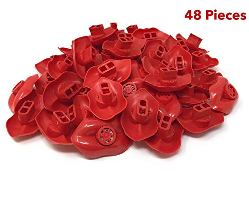 Mouth lip Whistles ǀ 48 Pieces ǀ Vibrant red color | Durable plastic| Party Supplies ǀ Blowing Whistle ǀ Goody-Bag Gift ǀ Fun Noise-making Whistle]()