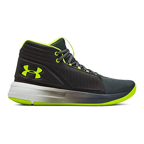 604962c72873 Under Armour Boys  Grade School Torch Mid Basketball Shoe Pitch (103) Jet  Gray