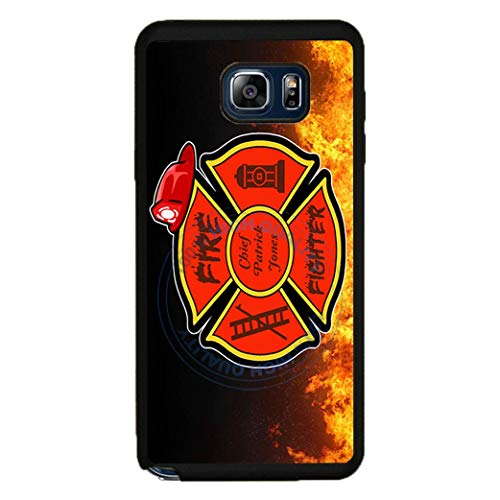BRGiftShop Personalized Custom Proud Firefighter Fire Fireman Retired Rubber Phone Case For Samsung Galaxy Note V 5