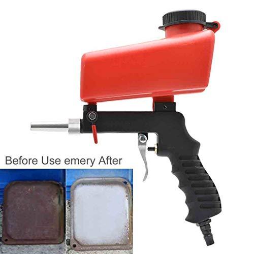 Euone ♛ Gravity Sandblaster, Portable Gravity Sandblasting Tool Pneumatic Small Sand Blasting Machine 90psi