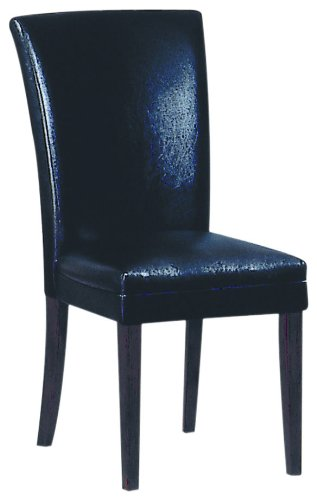 AmazoncomHomelegance Faux Leather Parson Chair Black Set of