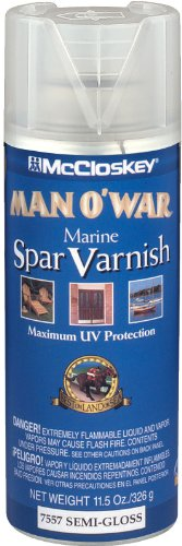 McCloskey 7557 Man O'War Spar Marine Varnish, 11.5-Ounce Spray, Clear Semi-Gloss (Clear Coat Marine)